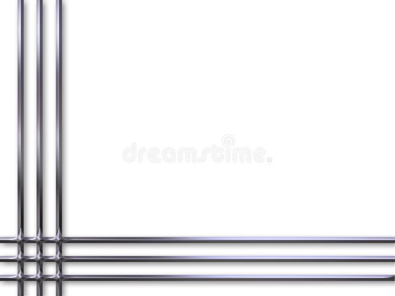 Encadrement argenté illustration stock