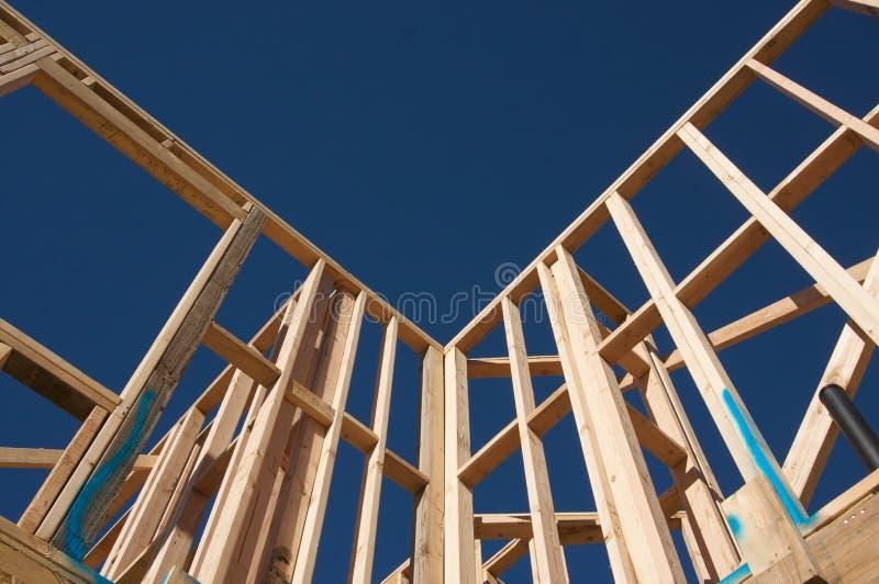 Encadrement de maison de construction. images stock