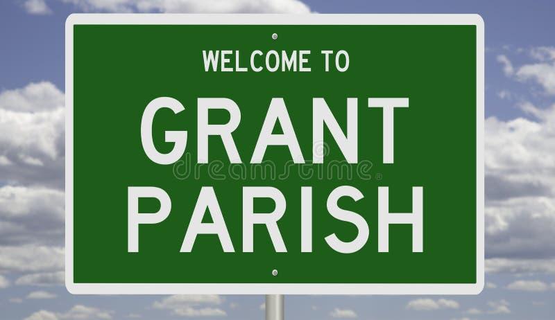 Encadrement routier de la paroisse de Grant photographie stock libre de droits