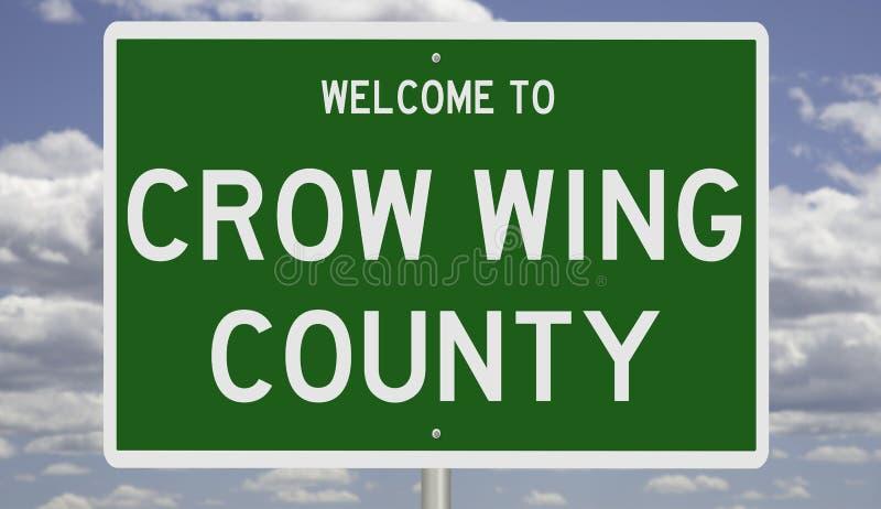 Encadrement routier du comté de Crow Wing photos libres de droits
