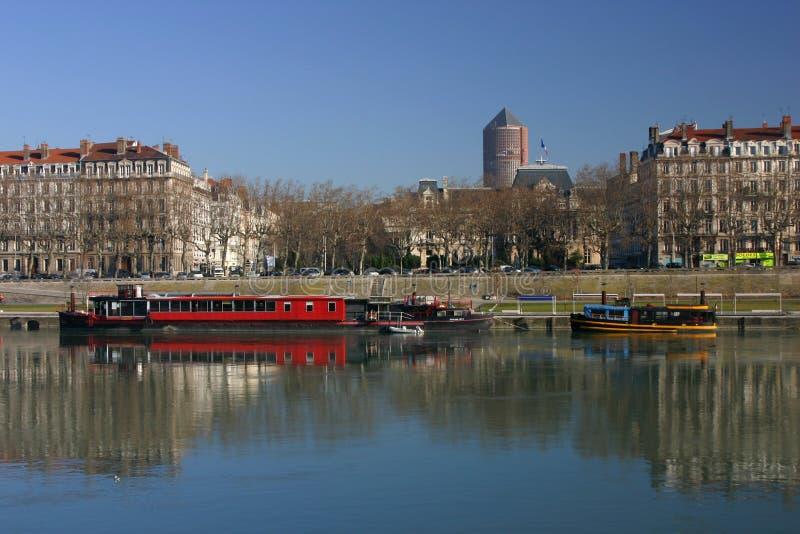 encaisse Lyon le Rhône photo libre de droits
