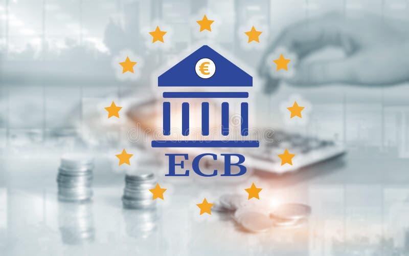 encaissez de l'Europe centrale BCE Finances, opérations bancaires capitales et concept d'investissement photographie stock