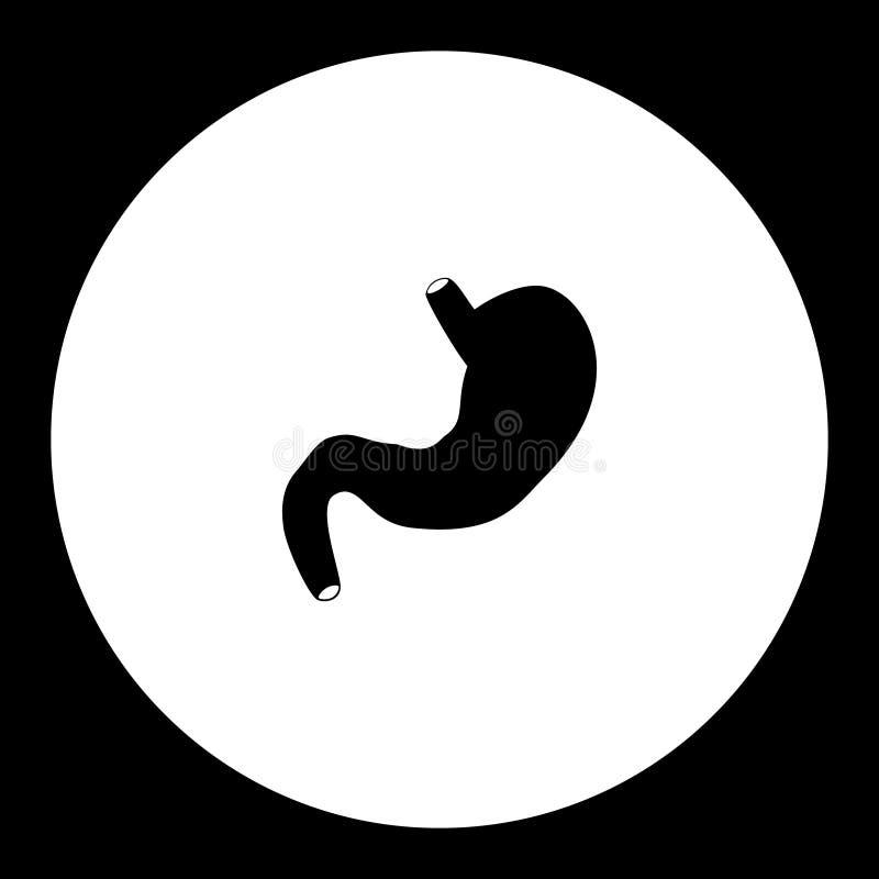 Encaissez l'icône noire simple médicale eps10 d'organe interne illustration stock