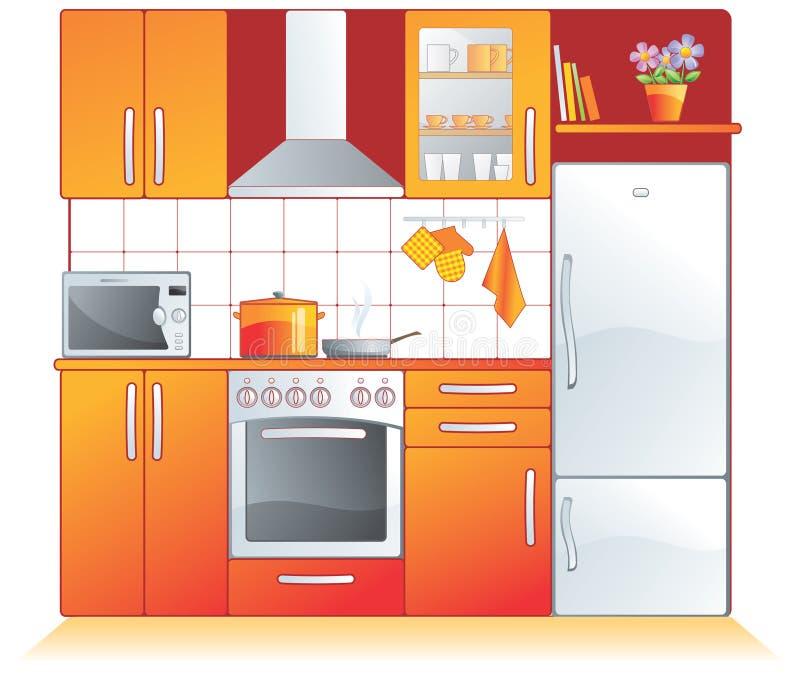 Encaixes da cozinha, dispositivos ilustração stock