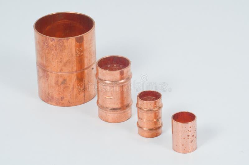 Encaixes de cobre do encanamento imagem de stock royalty free