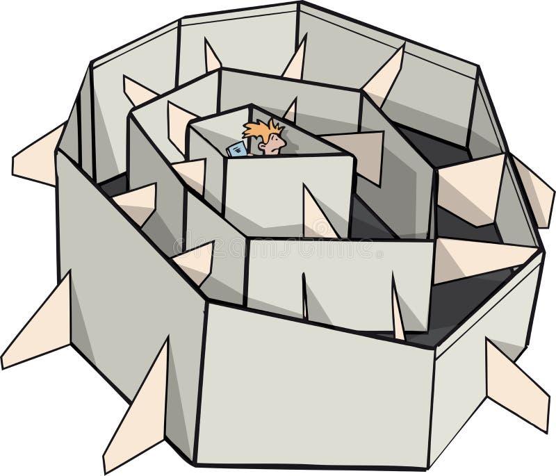 Encaixotado em uma situação ilustração do vetor