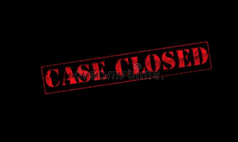 encaixote o vermelho fechado do carimbo de borracha em um fundo preto fotografia de stock royalty free
