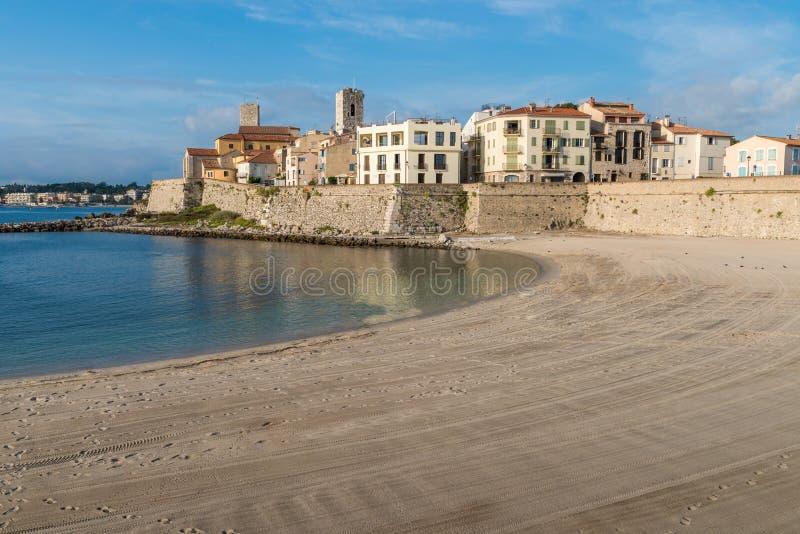 encalhe Antibes de negligência, ` Azur da costa d, França imagens de stock