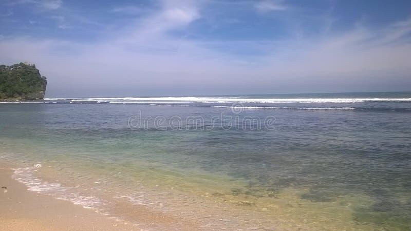 Encalhe, a areia branca, paraíso, natureza, fotografia de stock
