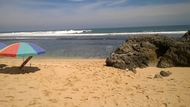 Encalhe, a areia branca, paraíso, natureza, fotografia de stock royalty free