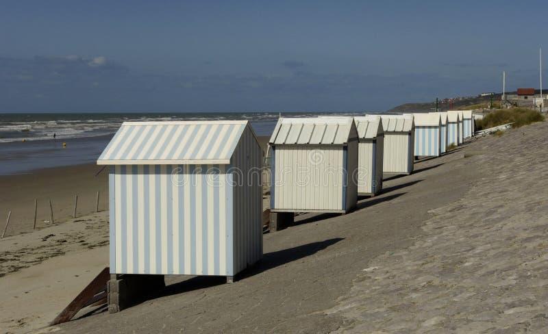 Encalhe cabanas fotografia de stock