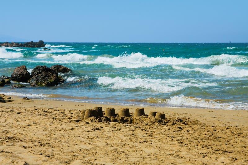 Encalhe, grego, o Crete fotografia de stock