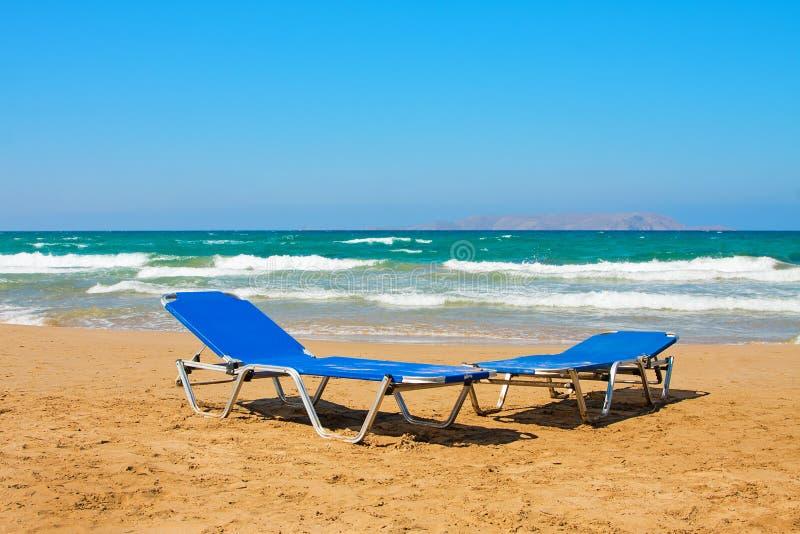 Encalhe no grego, o Crete fotografia de stock royalty free