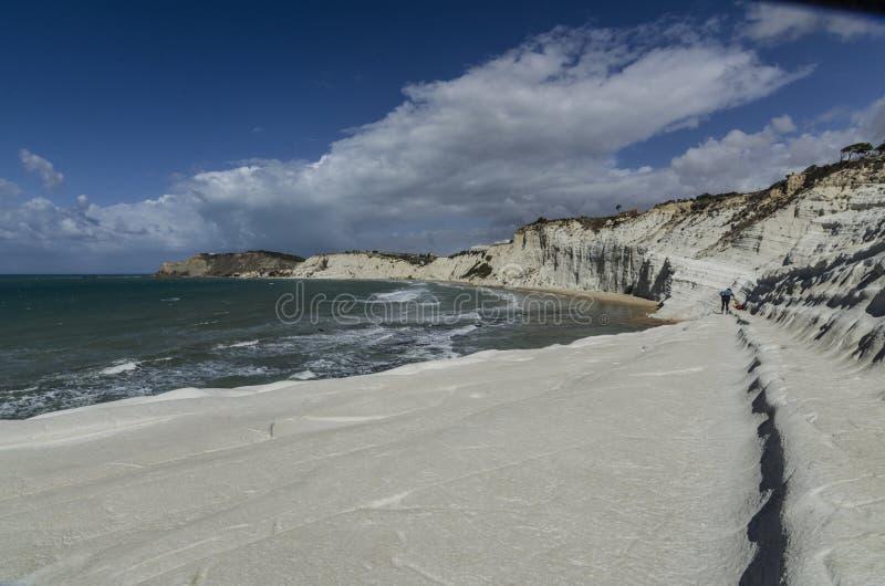 Encalhe o turchi do dei de Scala na costa siciliano fotografia de stock royalty free