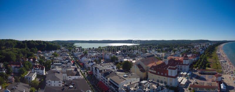 Encalhe a opinião aérea de Ruegen Alemanha Mecklenburg da ilha de Binz foto de stock