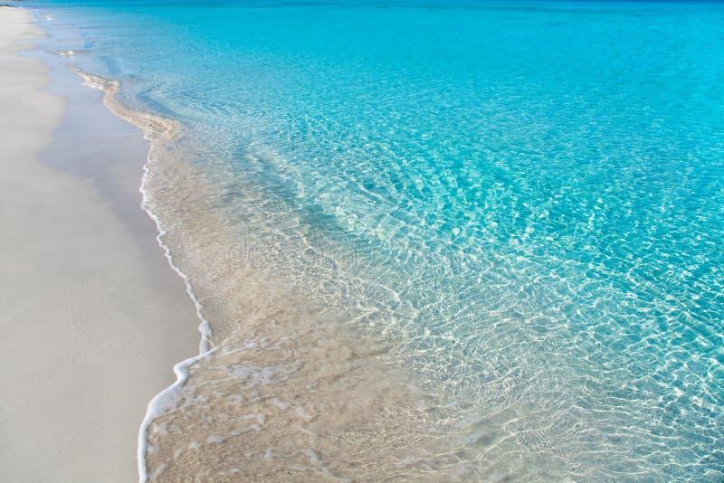 Encalhe tropical com água branca da areia e da turquesa fotos de stock royalty free