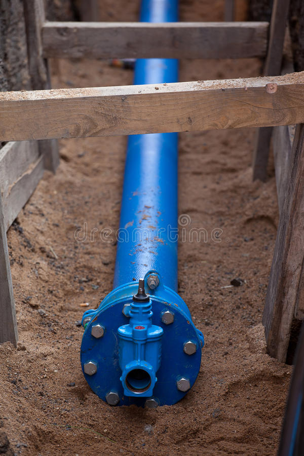 Encanamento da água subterrânea foto de stock royalty free