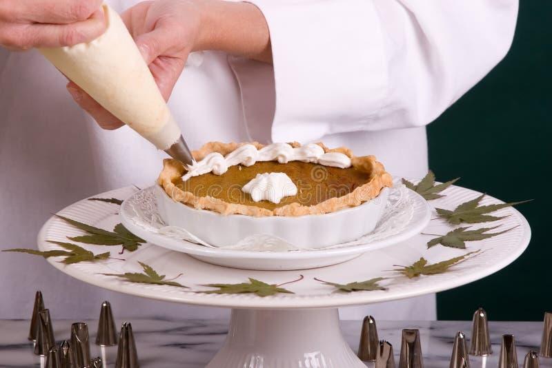 Encanamento da torta de abóbora fotos de stock