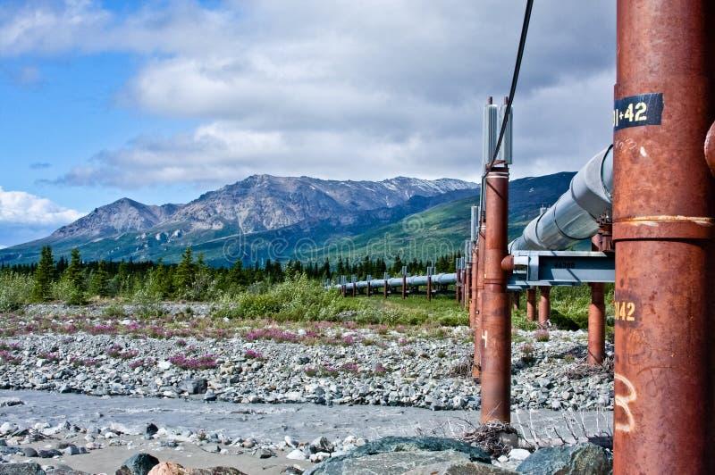 Encanamento de Transporte-Alaska fotos de stock royalty free