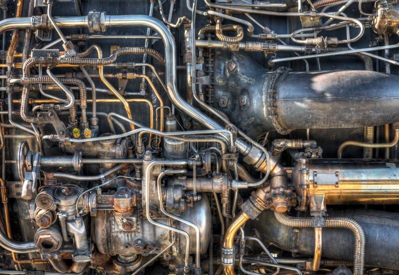 Encanamento do motor de jato fotos de stock