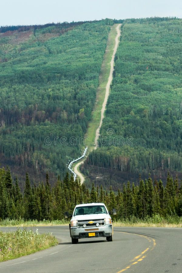Encanamento Elliot Highway Fire Damage de Alaska - de Transporte-Alaska foto de stock