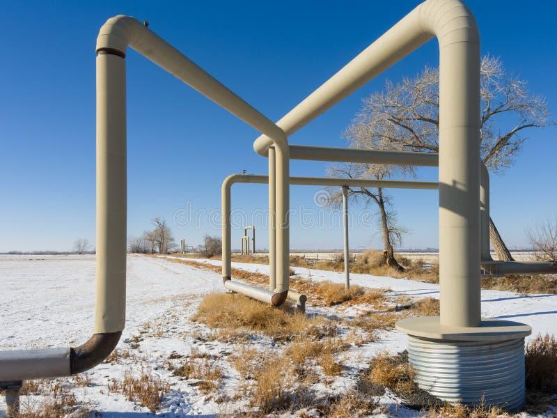 Encanamento geotérmica foto de stock