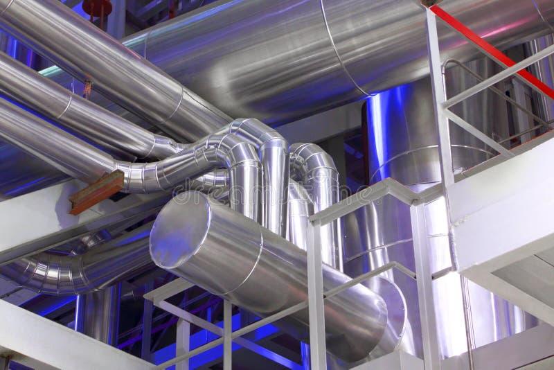 Encanamento industrial imagens de stock
