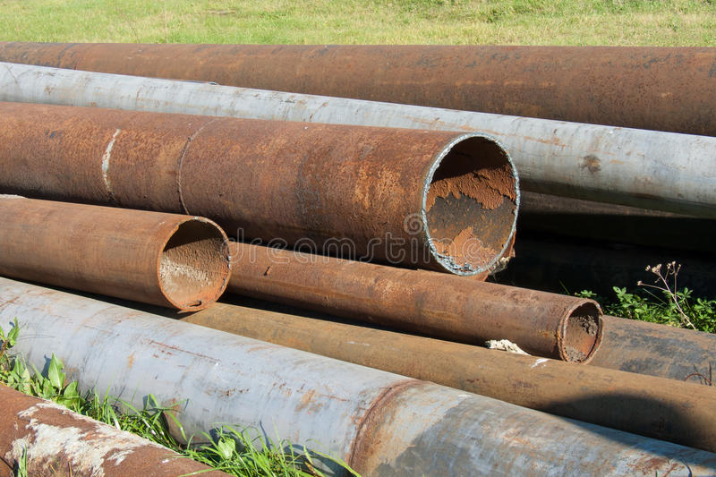 Encanamentos oxidados foto de stock royalty free