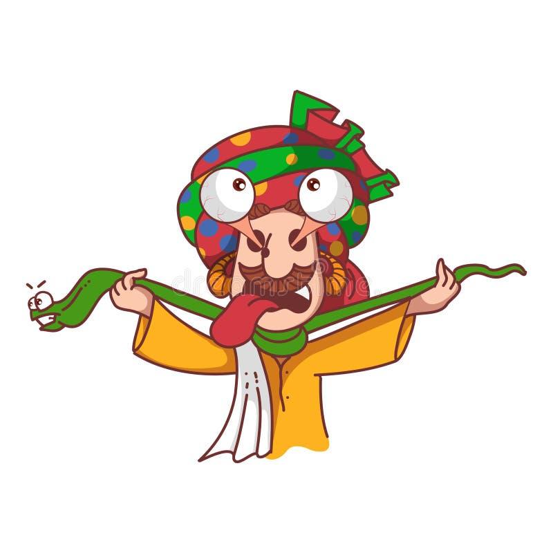 Encantador de serpiente de la historieta Illustration libre illustration