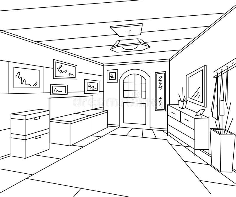 Encante El Interior Del Vestíbulo Con Muebles, Las Imágenes Y El ...