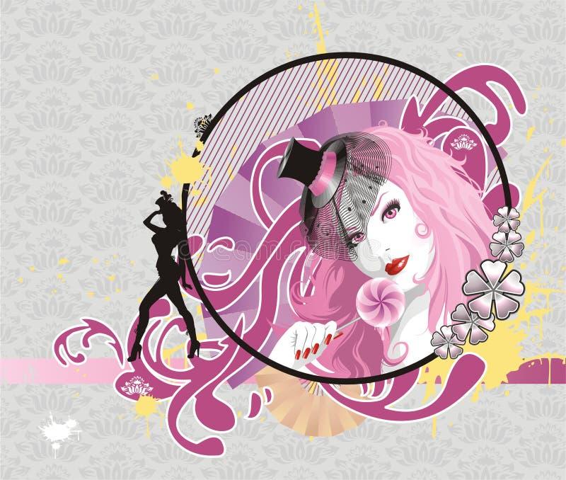Encanto cor-de-rosa ilustração stock