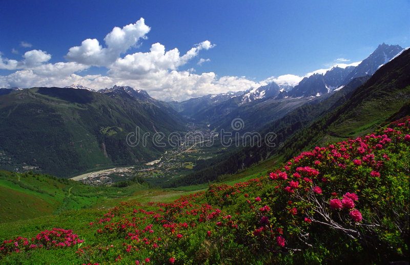 Encanto de Chamonix fotos de stock