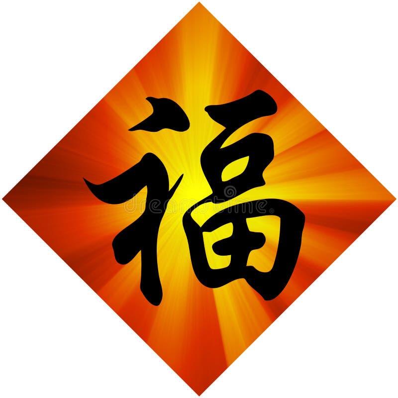 Encanto del Año Nuevo de chino de la buena fortuna stock de ilustración