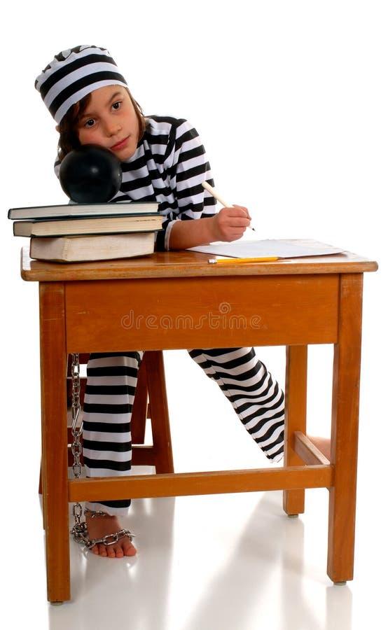 Encarcelado por School imágenes de archivo libres de regalías