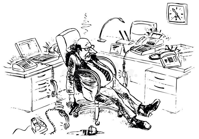 Encargado cansado mortal libre illustration