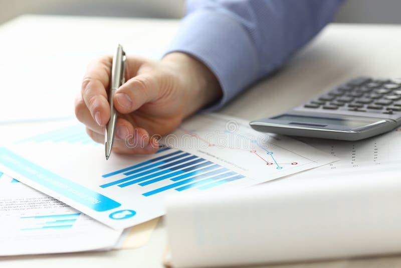 Encargado Controlling Expense Income del contable imagen de archivo libre de regalías