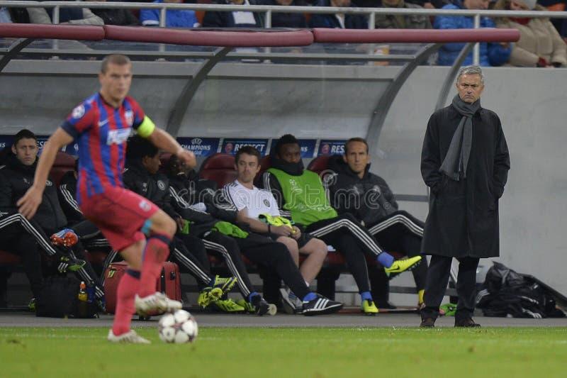 Encargado del fútbol - Jose Mourinho imagenes de archivo
