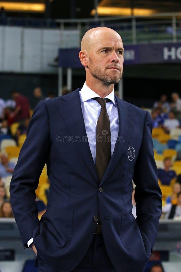 Encargado Erik Ten Hag del AFC Ajax fotos de archivo