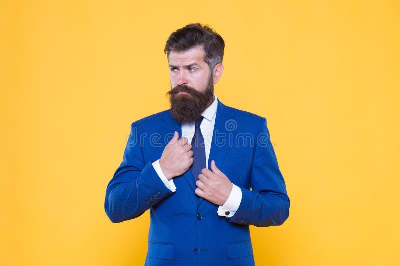 Encargado superior del hombre de negocios acertado Concepto del hombre de negocios Empresario motivado serio Estrategia empresari fotografía de archivo libre de regalías