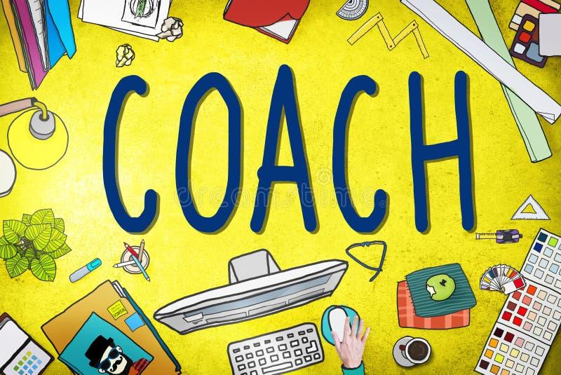 Encargado Tutor Concept del líder de Coaching Guide Instructor del coche ilustración del vector