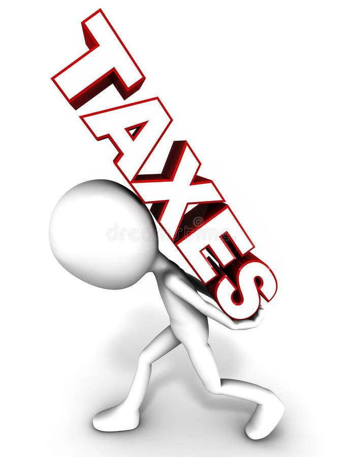 Encargo fiscal ilustração royalty free