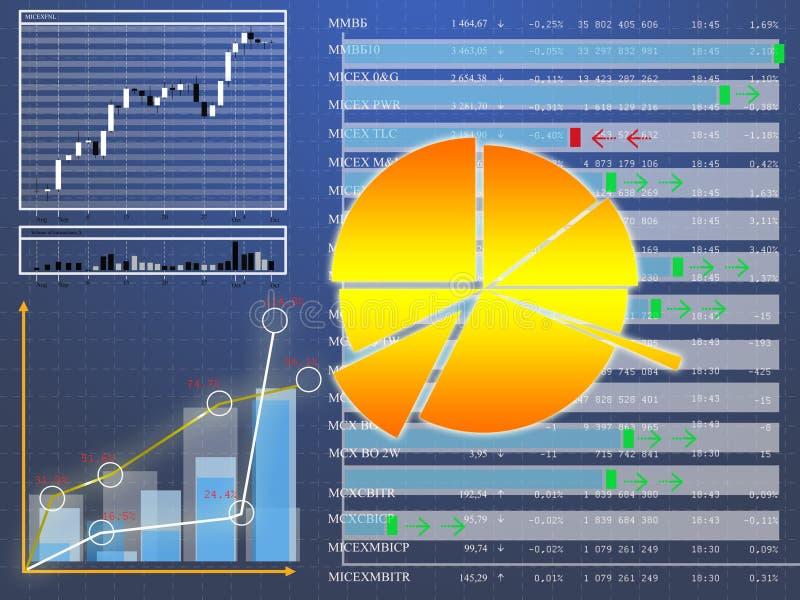 Encarregado da moeda da folha de dados em cima do mercado de finança ilustração stock