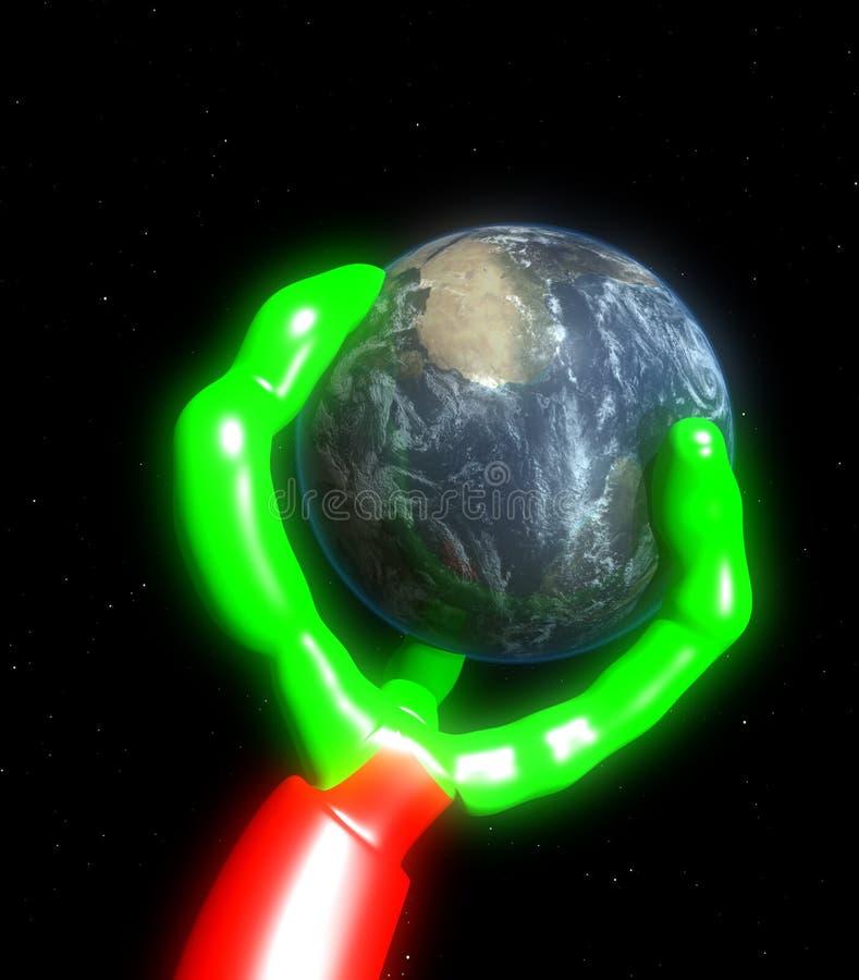 Encavateur étranger 4 du monde illustration libre de droits