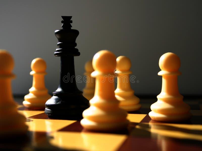 Encenação da xadrez fotografia de stock royalty free