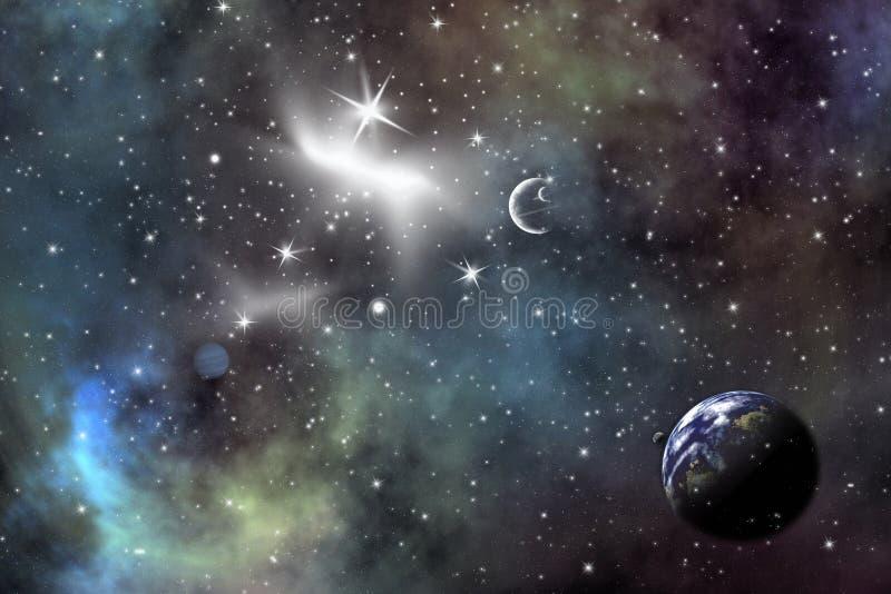 Encenação do espaço ilustração royalty free