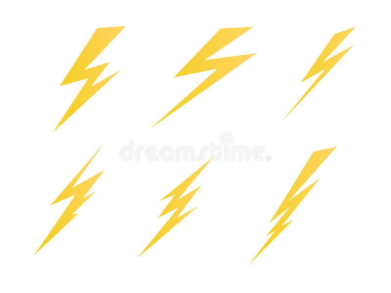 Encendiéndose, ejemplo del símbolo del vector del icono de la carga eléctrica ilustración del vector