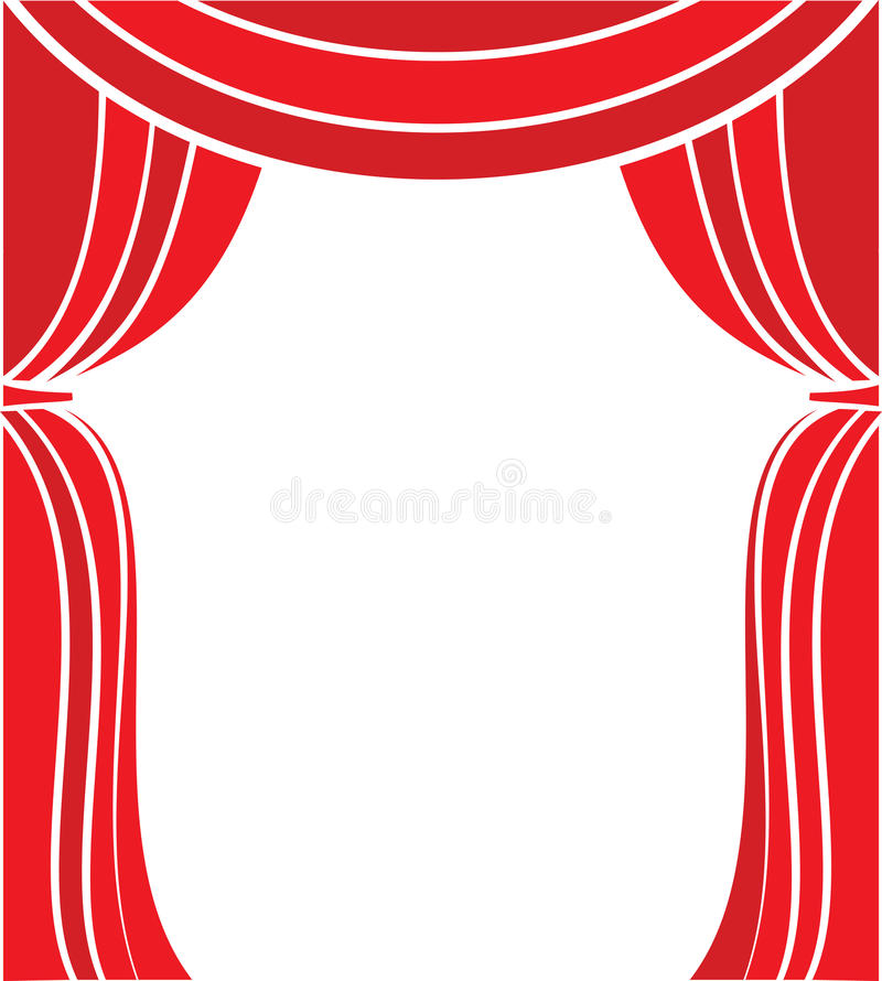 Encene a cortina ilustração do vetor