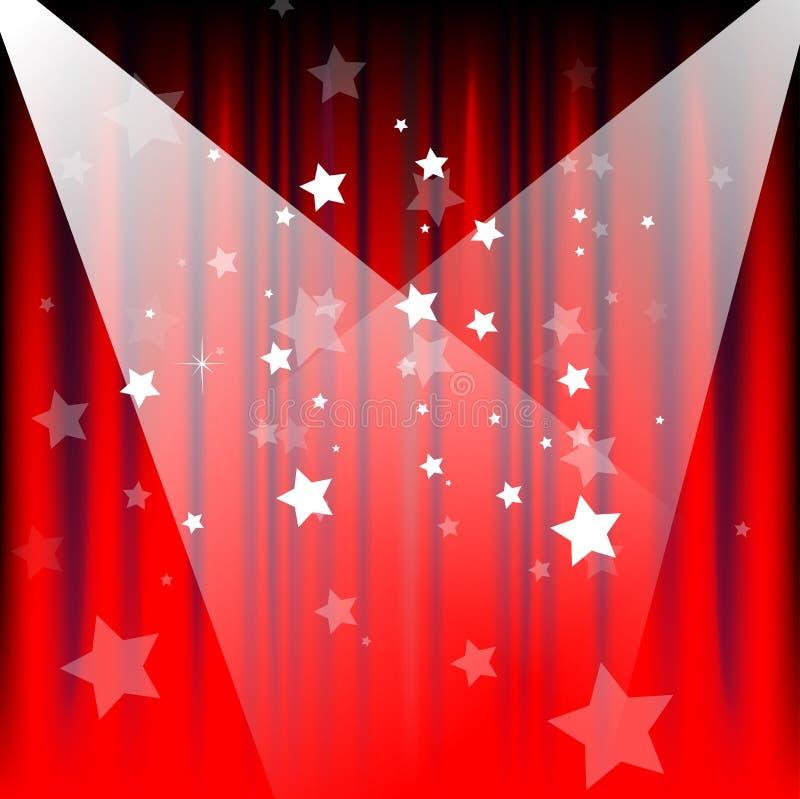 Encene cortinas ilustração stock