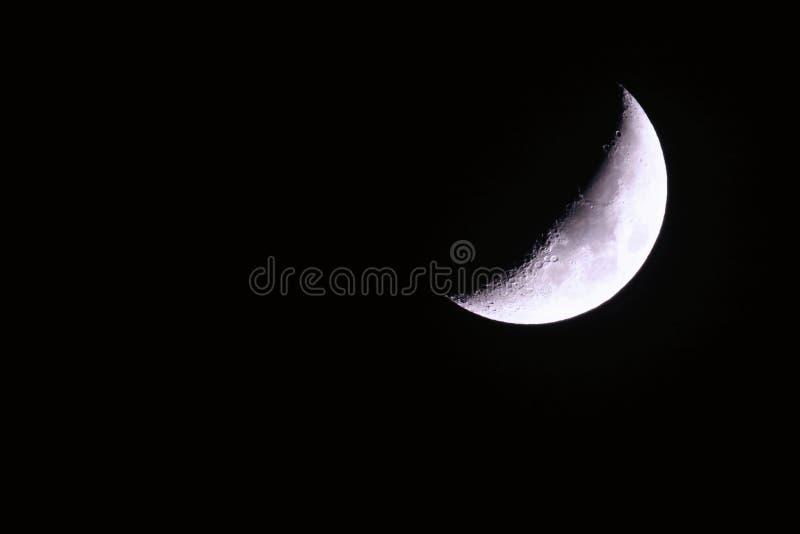 Enceramento crescente da lua fotos de stock