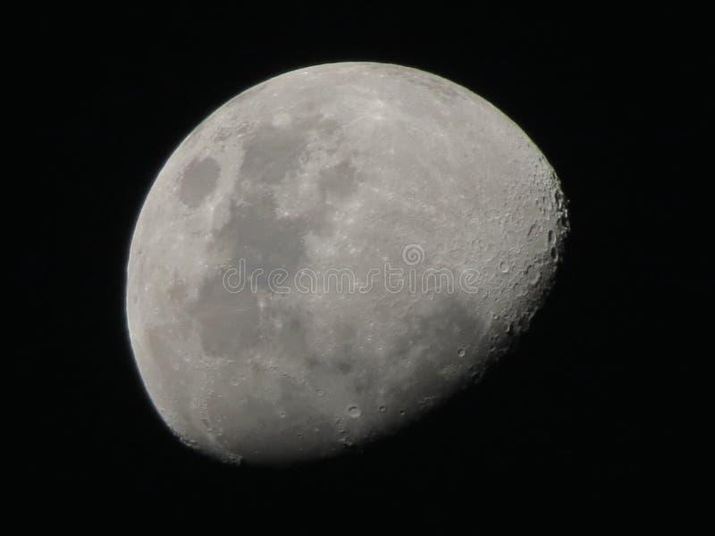 Encerando a lua fotografia de stock